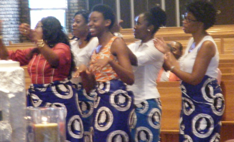 Dancers help Bridig celebrate