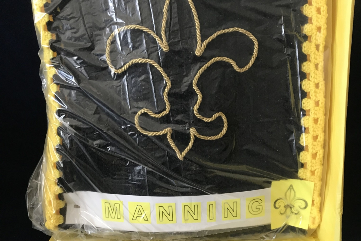 Archie Manning And Saints Afghan