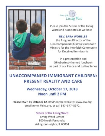 """Unaccompanied Immigrant Children: Present Reality and Care"" presentation and luncheon @ Living Word Center"