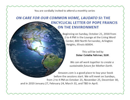 On Care for Our Common Home: Laudato Si @ Living Word Center