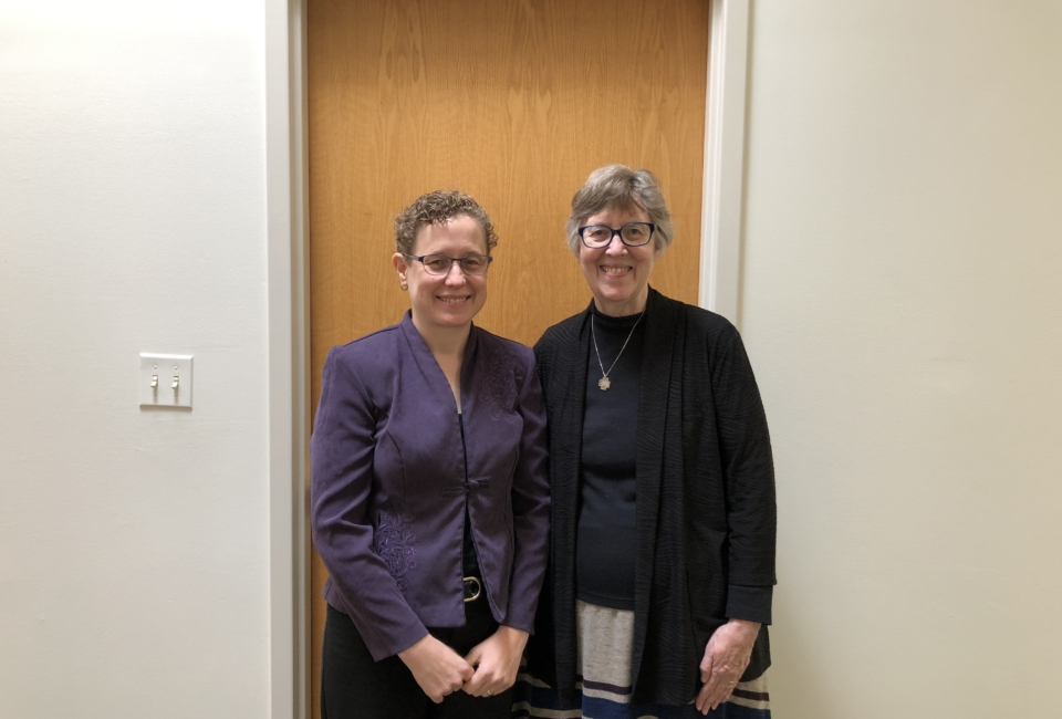 Kris Vorenkamp And Rev. Sara Wohlleb As Rev. Wohlleb Prepares To Speak About The Reality Of Unaccompanied Immigrant Children.