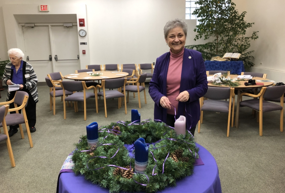 Sister Carrie And Advent Wreath