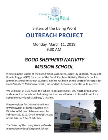 SLW Outreach Project Good Shepherd School NOLA @ Good Shepherd School