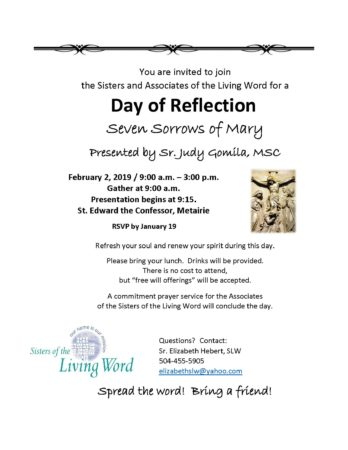 Day of Reflection, Metairie, Louisiana @ St. Edward the Confessor