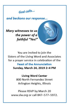 Feast of the Annunciation @ Living Word Center