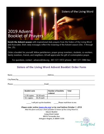 Advent Book Order Form