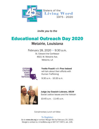 Educational Outreach Louisiana 2020 @ St. Edward the Confessor